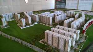Layout model of the Sobha Dream Acres project in Balagere, East Bangalore