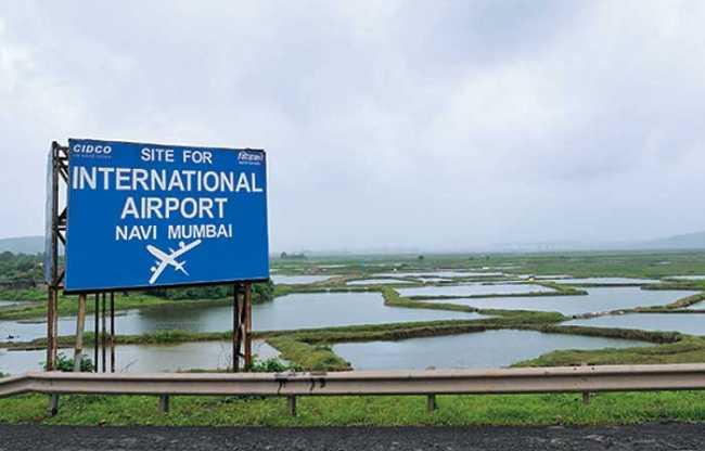 Site for Navi Mumbai Airport (Image courtesy: NMTV)