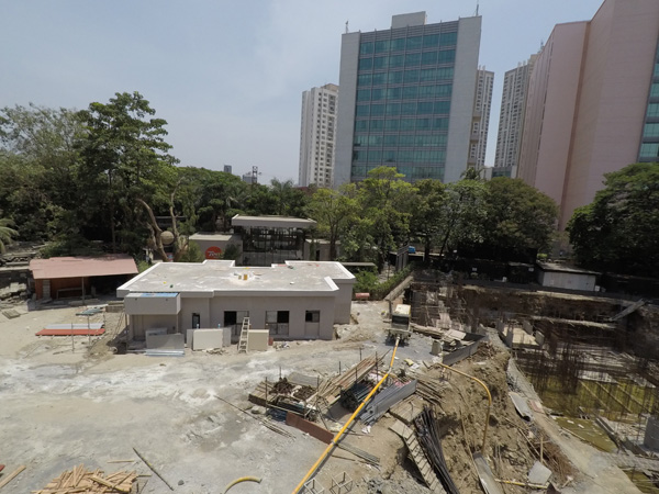 Project site with Lodha Supremus in the background