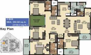 Sobha Palladian-4bhk-Floor Plan