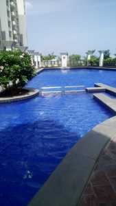 The pool housed within the clubhouse complex at Purva Swanlake in OMR, Chennai