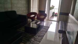 Living room in a sample apartment in Akshardham project in Market Yard, Pune