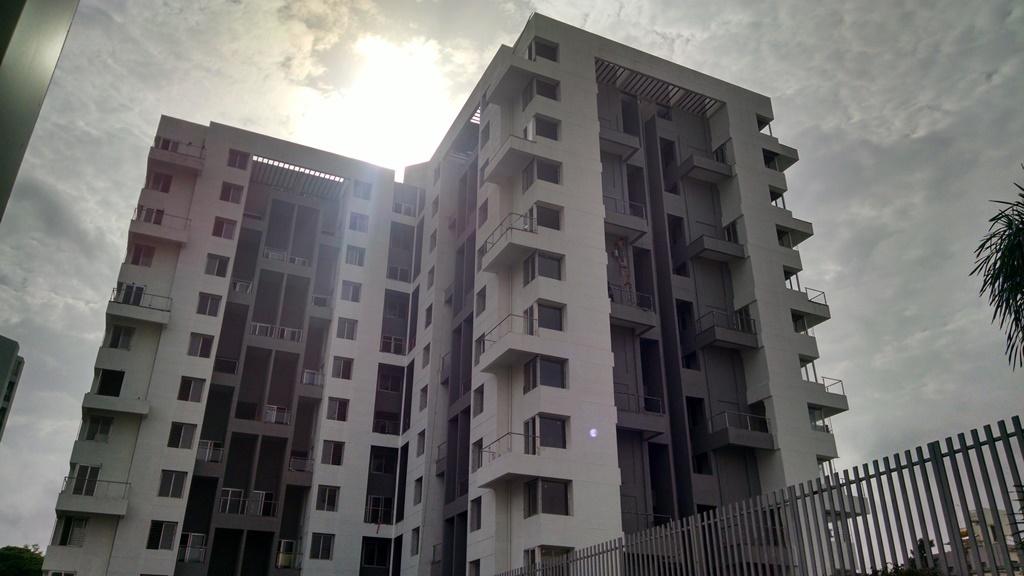 Apartment buildings at Akshardham project in Market Yard, Pune