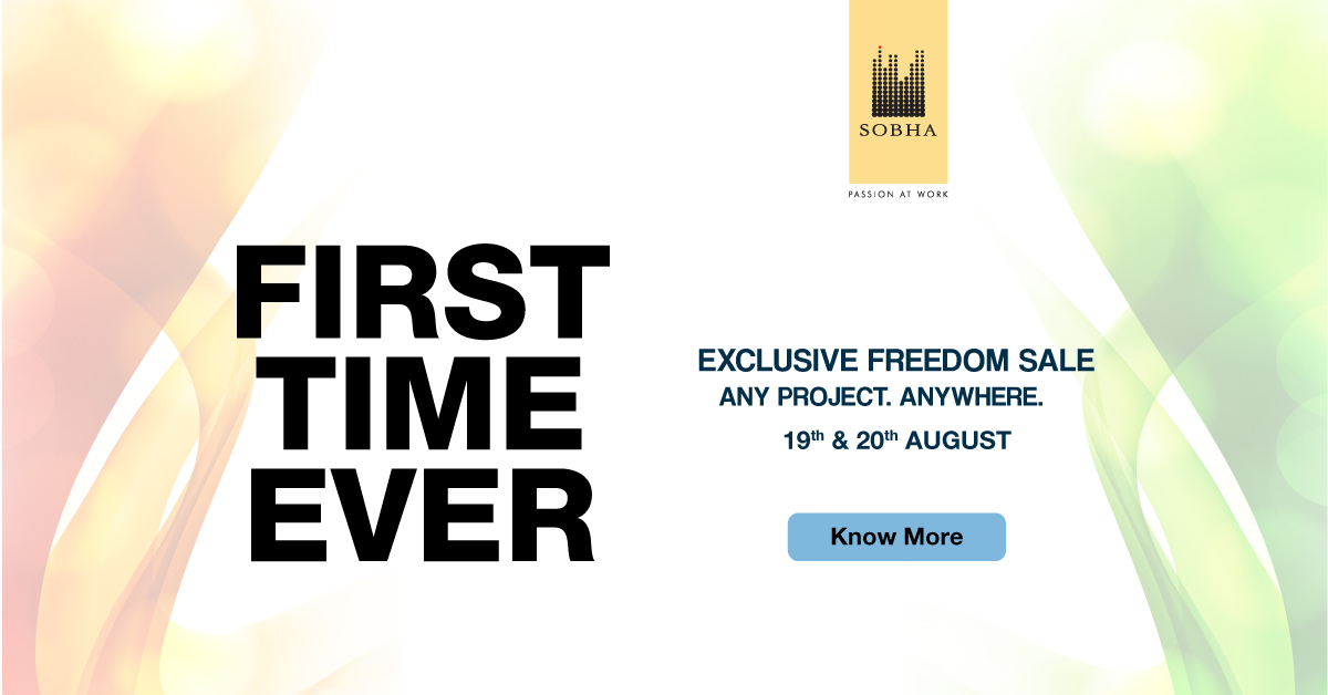 Freedom Sale of Sobha Limited for their projects in Bangalore