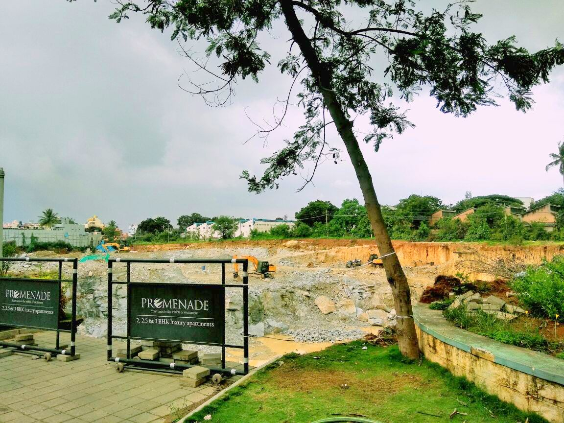 Excavation work has started on the site: Ozone Promenade
