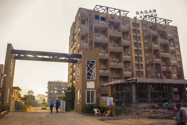 Entrance to Gagan LaWish project in Pisoli, Pune