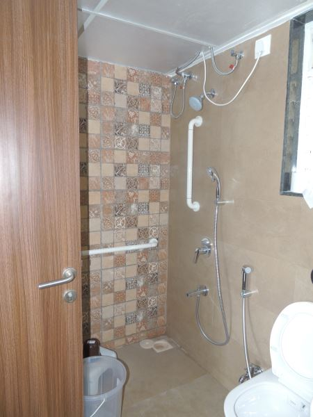 Specially designed bathrooms and toilets at Gagan NuLife
