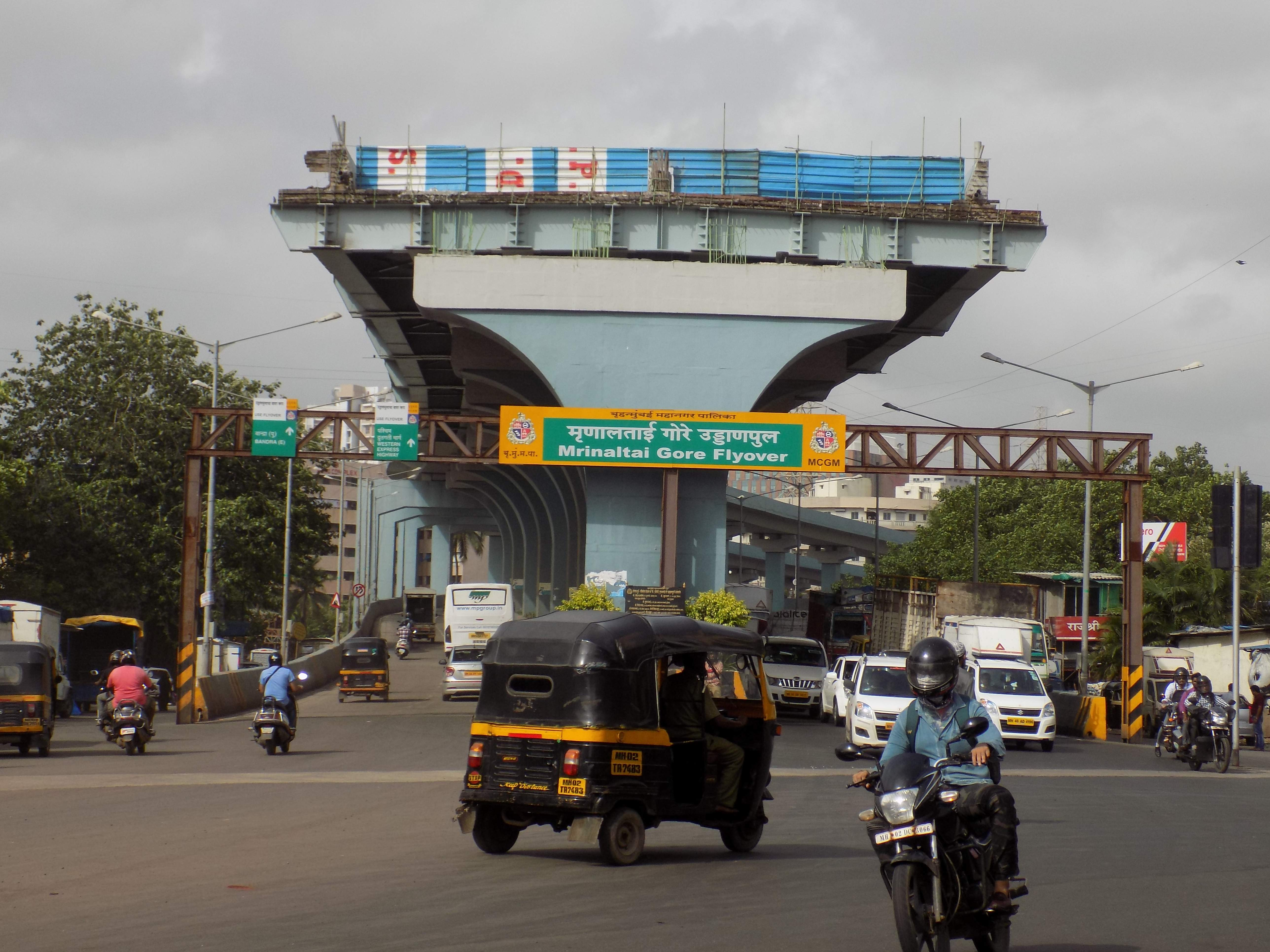 Mrinal Gore Flyover connecting to the Western Express Highway