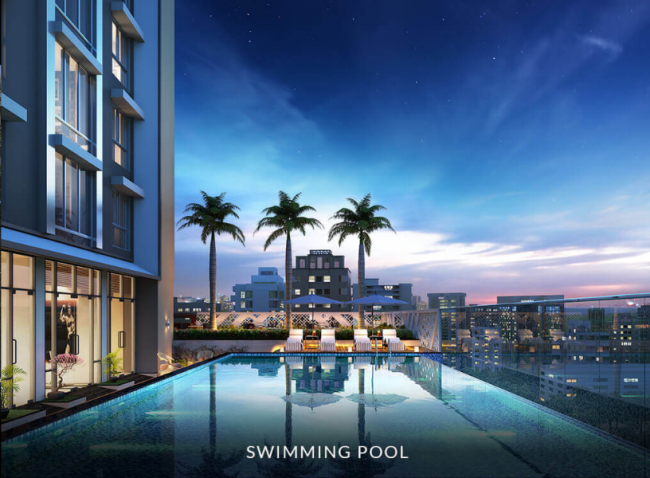 Artistic representation of infinity pool at The Autograph