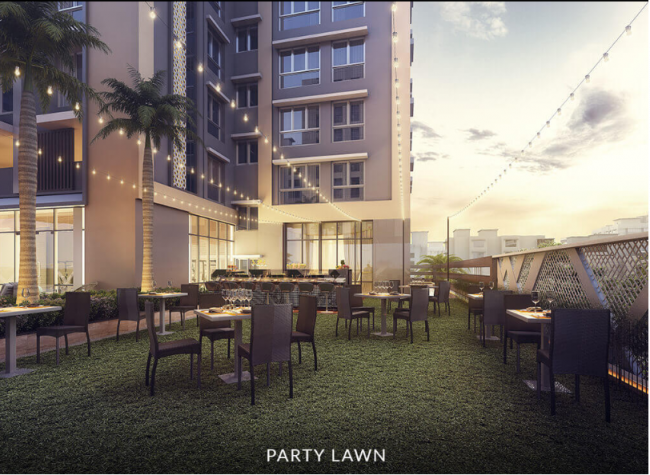 Artistic representation of the Banquet Lawn at The Autograph