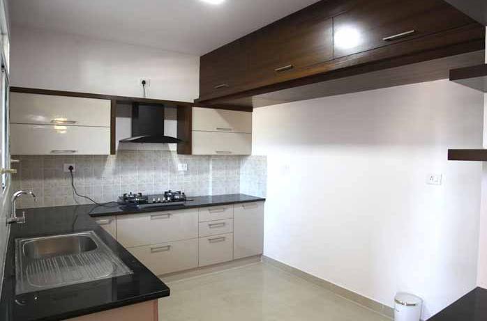 Kitchen of sample apt at Gopalan Atlantis