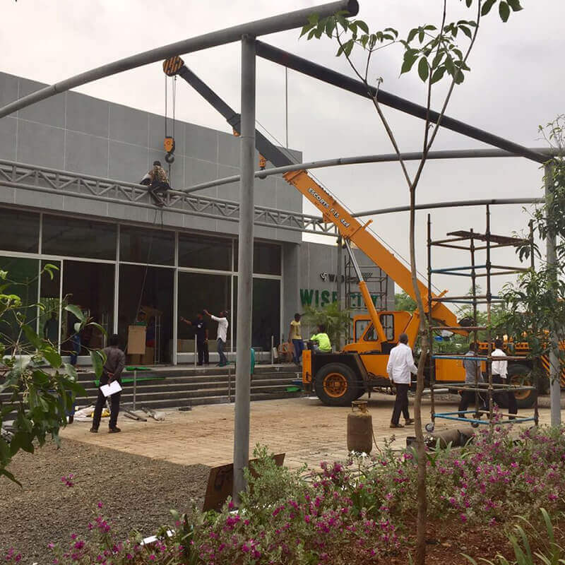 Wise City site office being constructed