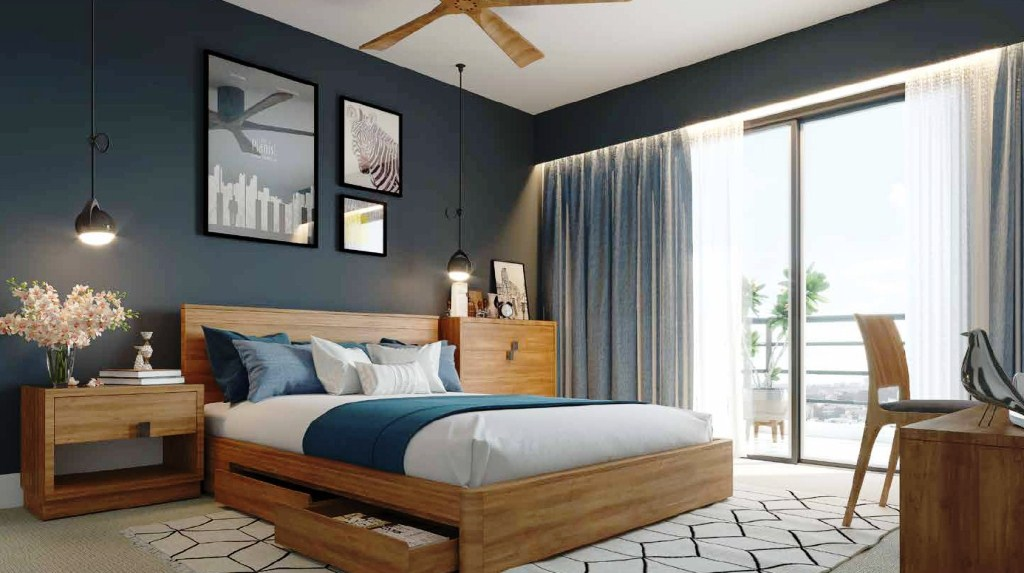 Artistic View of Carmel Heights Bedroom